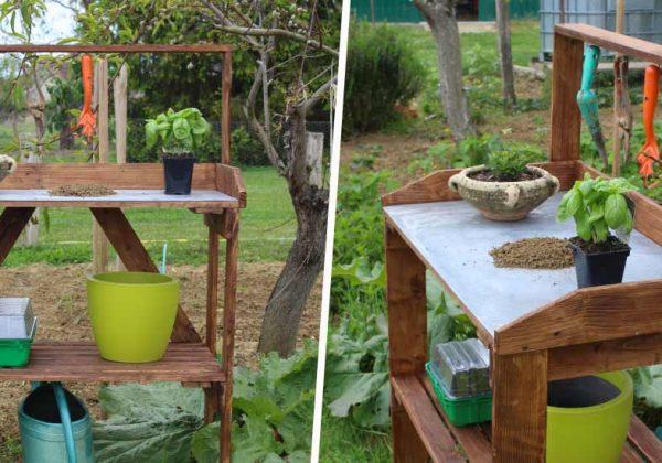 Tutoriel : Comment fabriquer une table de rempotage de jardin en palette