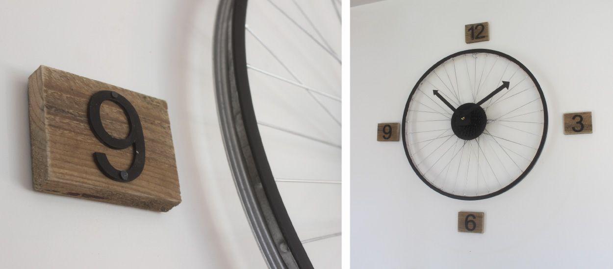 Tuto : Fabriquez une horloge style industriel avec une roue de vélo !