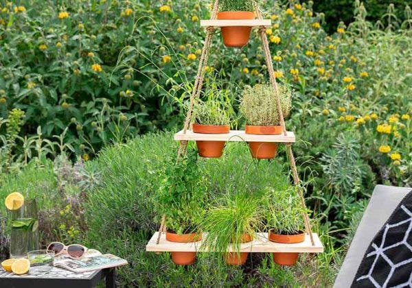Tutoriel pour fabriquer un jardin aromatique suspendu avec 3 ...