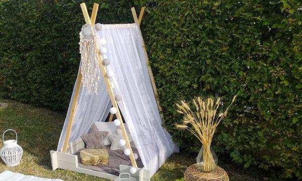 Tuto : Fabriquez une petite tente de jardin féérique pour vos enfants