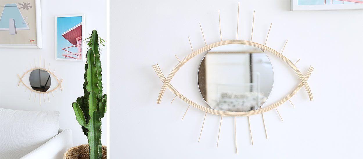 Tuto : Réalisez un joli miroir en rotin pour habiller vos murs d'un