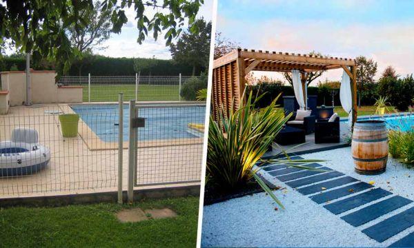 Avant / Après : Cette piscine un peu triste est devenue un vrai paradis avec sa pergola