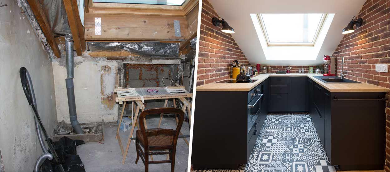 Avant / Après : Ce grenier sous les combles est devenu un studio optimisé et confortable