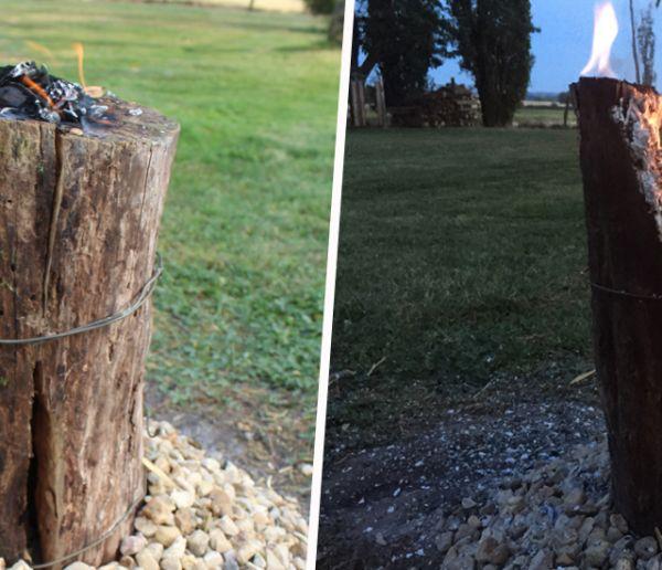 Tuto : Fabriquez une bûche suédoise pour décorer votre jardin