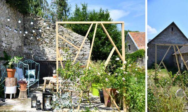 Tuto : réalisez un claustra design en bois dans votre jardin
