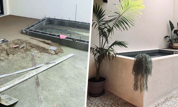 Ce couple a construit une mini-piscine dans son patio pour moins de 1 500 euros