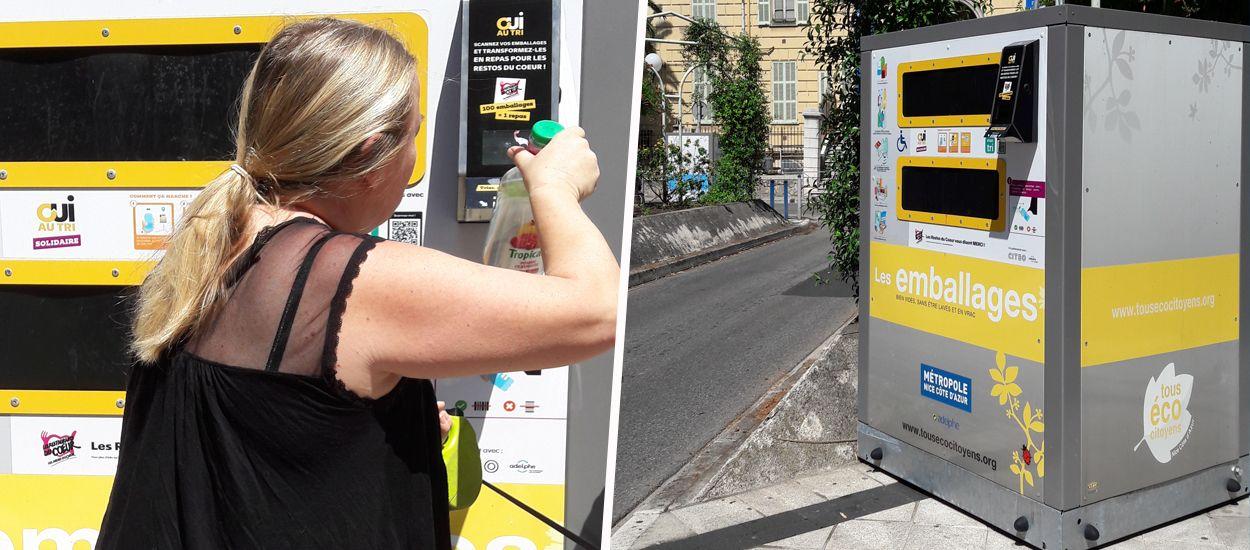 À Nice, pour chaque emballage recyclé, de l'argent est reversé aux Restos du Coeur