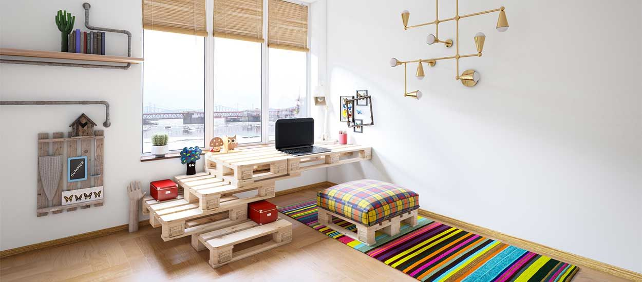 Où trouver des palettes pour fabriquer des meubles récup' ?