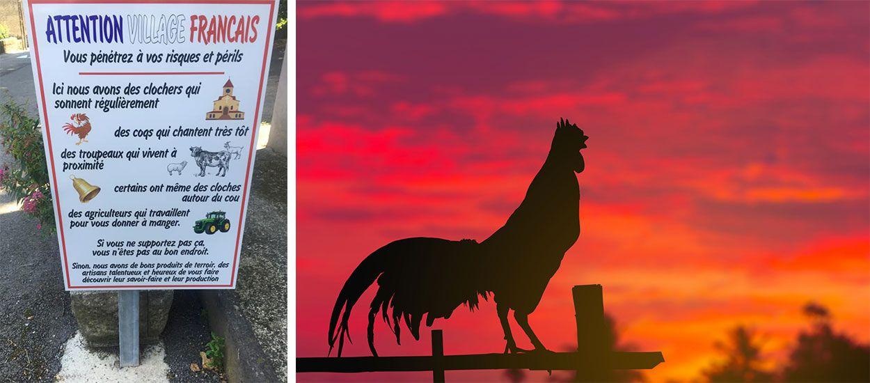 Dans ce village, une drôle de pancarte alerte les touristes sur les bruits de la campagne