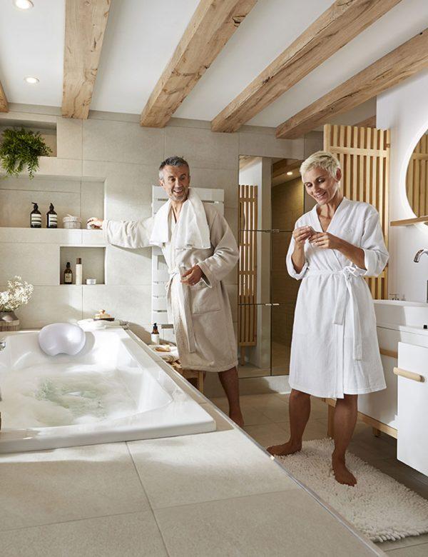 Une salle de bains bien-être
