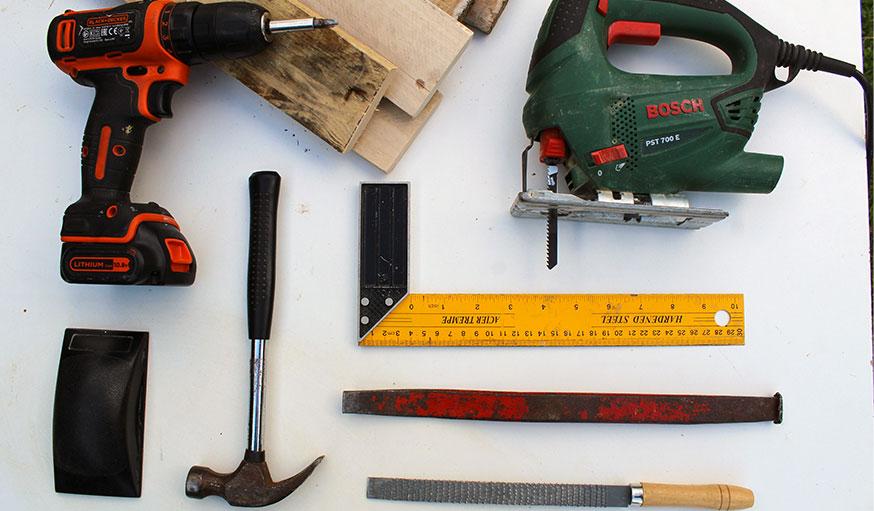 Tutoriel bac à compost en palettes outils