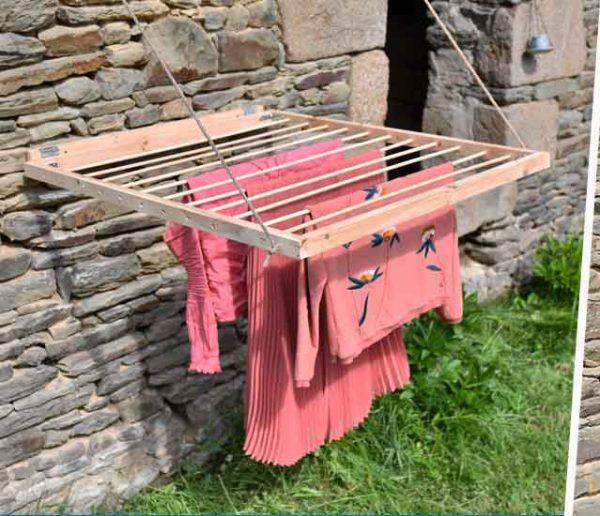 Tuto : Fabriquez un étendoir à linge gain de place pour l'extérieur