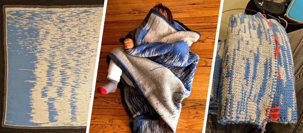DIY : Chaque rang de cette couverture pour bébé représente un jour de sa vie