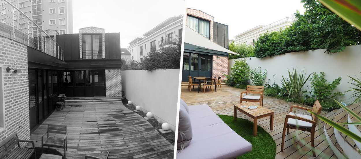 Avant / Après : Ce jardin triste et vide est devenu un paradis vert en pleine ville