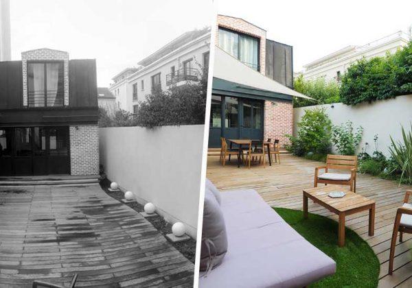 Avant / Après : Un beau jardin toute l\'année en ville - Jardin en ...