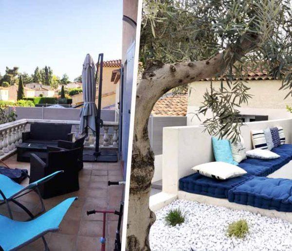 Avant / Après : L'esprit méditerranéen souffle sur les trois terrasses de cette maison