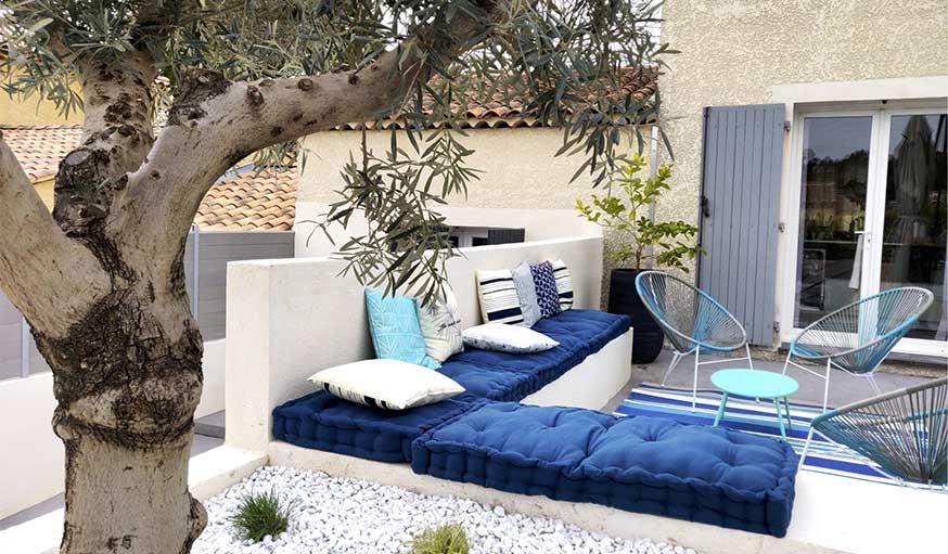 terrasse rénovée déco méditerranée olivier agence mrc