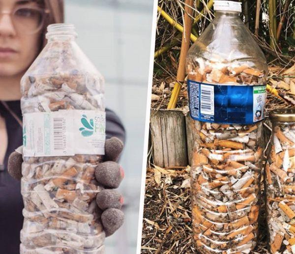 #Fillthebottle : le nouveau challenge qui consiste à ramasser des mégots de cigarettes dans une bouteille