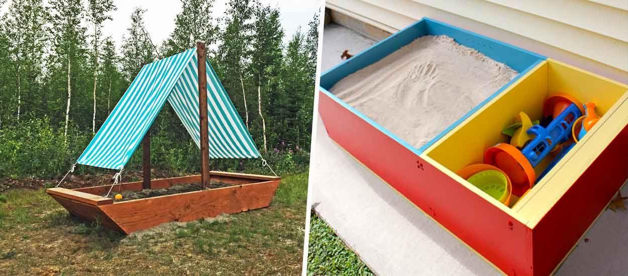 8 idées pour fabriquer un bac à sable (avec un petit plus) pour vos enfants