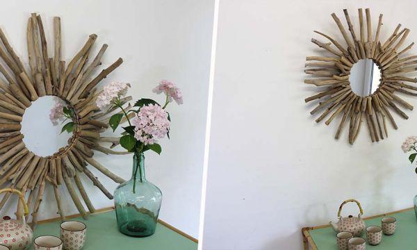 Tuto : Fabriquez un miroir soleil avec du bois flotté