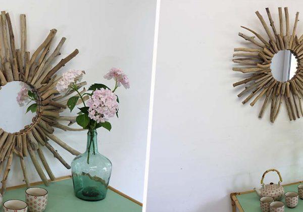 Diy Construire Un Miroir Rond En Bois Flotté Pour Une Déco