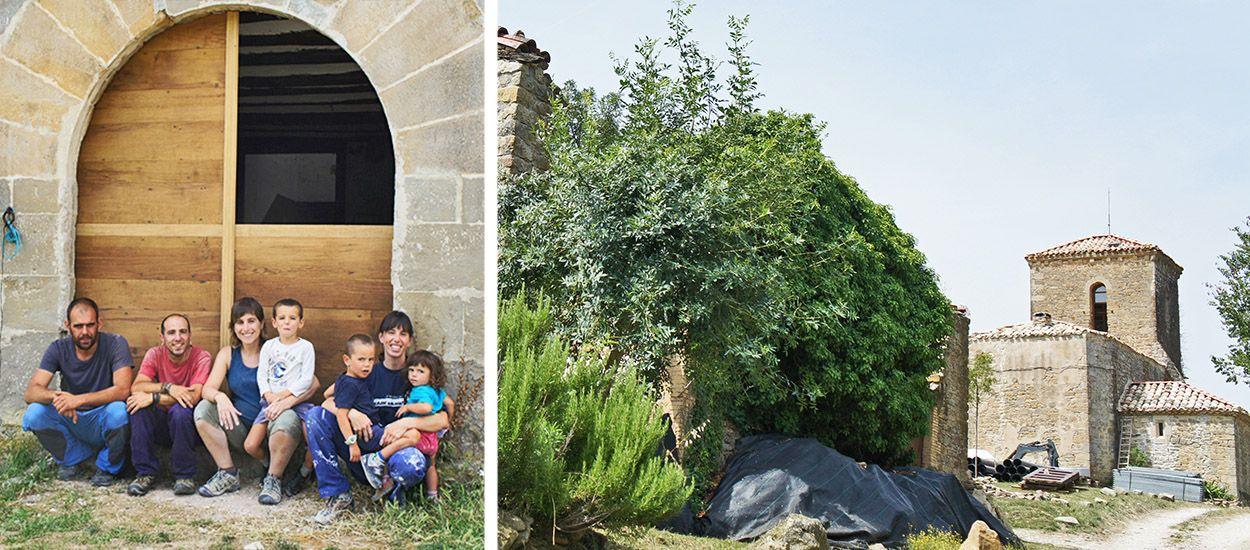 En Navarre, onze familles ont racheté un village abandonné et le retapent de manière écolo