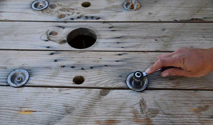 Tuto table suspendue avec un touret étape 1