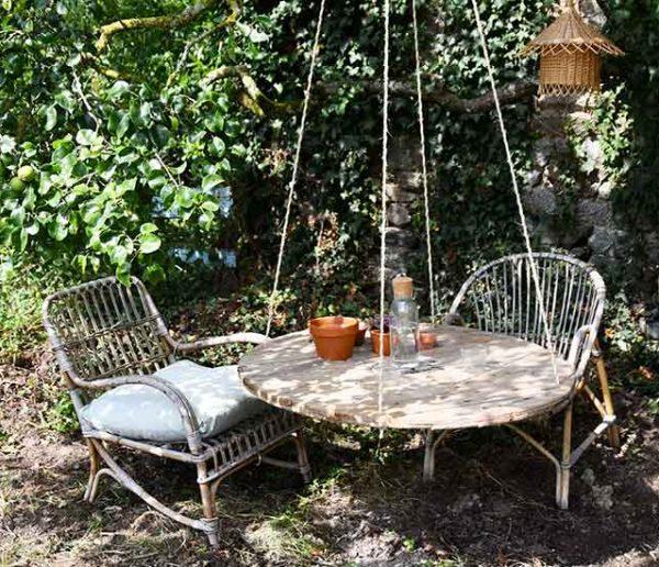 Tuto : Transformez un touret en table suspendue pour le jardin