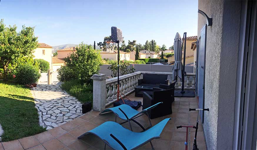 terrasse avant les travaux balustrade carrelage ancien agence mrc
