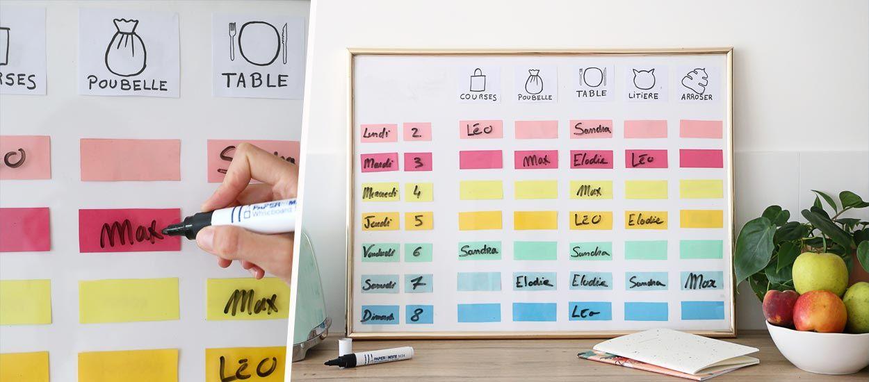 Tuto : Fabriquez un panneau d'organisation pratique pour la rentrée