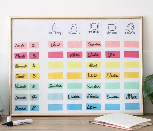 Tuto : Fabriquez un panneau d'organisation pratique pour la nouvelle année