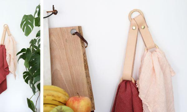 Tuto : Réalisez un porte-torchon en cuir pour la cuisine