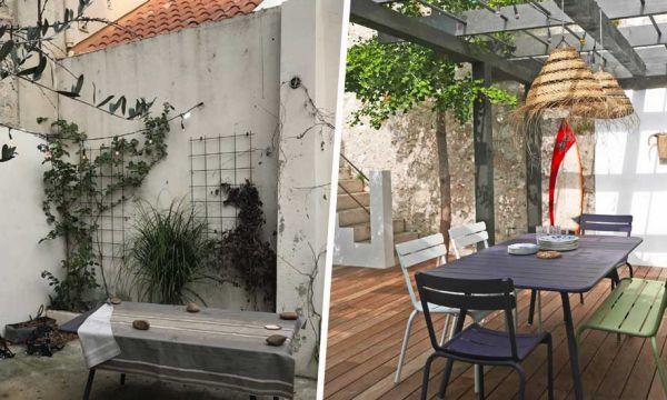 Avant / Après : Une nouvelle pergola pour ce jardin à admirer toute l'année