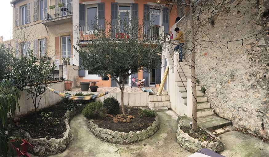 Avant après jardin Marseille avec pergola - la façade avant la rénovation