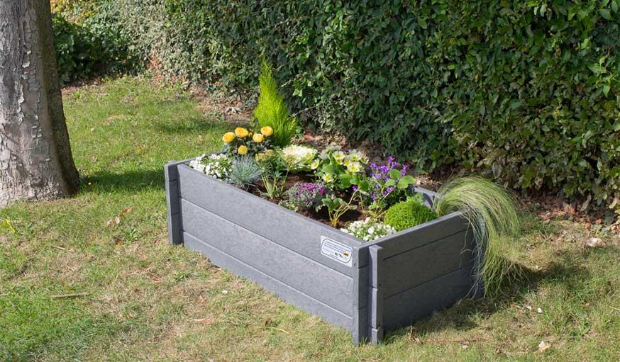 bac à fleurs recyclé Terracycle