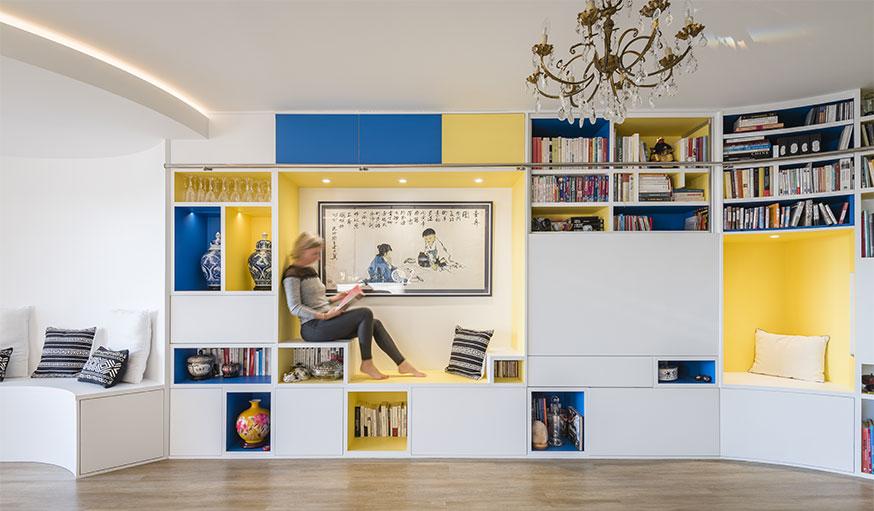 bibliothèque avec coin lecture intégré Nadège Nari