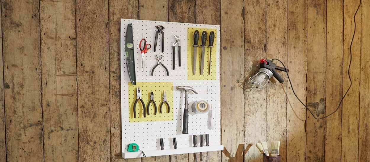 Tuto : Réalisez un panneau mural pour ranger vos outils