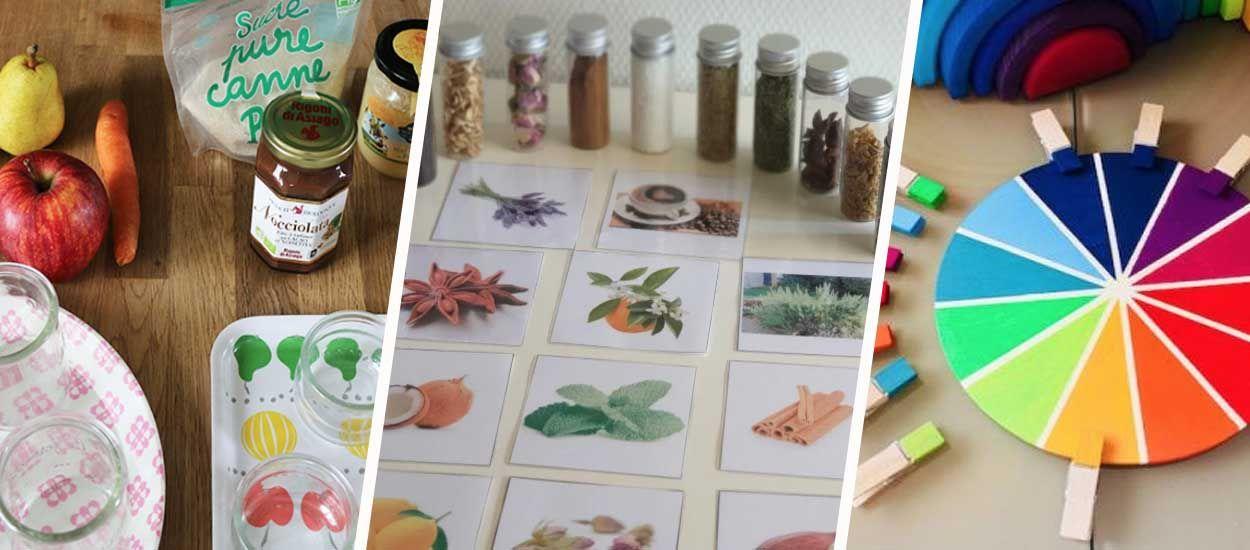 8 jeux Montessori à fabriquer vous-même pour développer les 5 sens de votre enfant