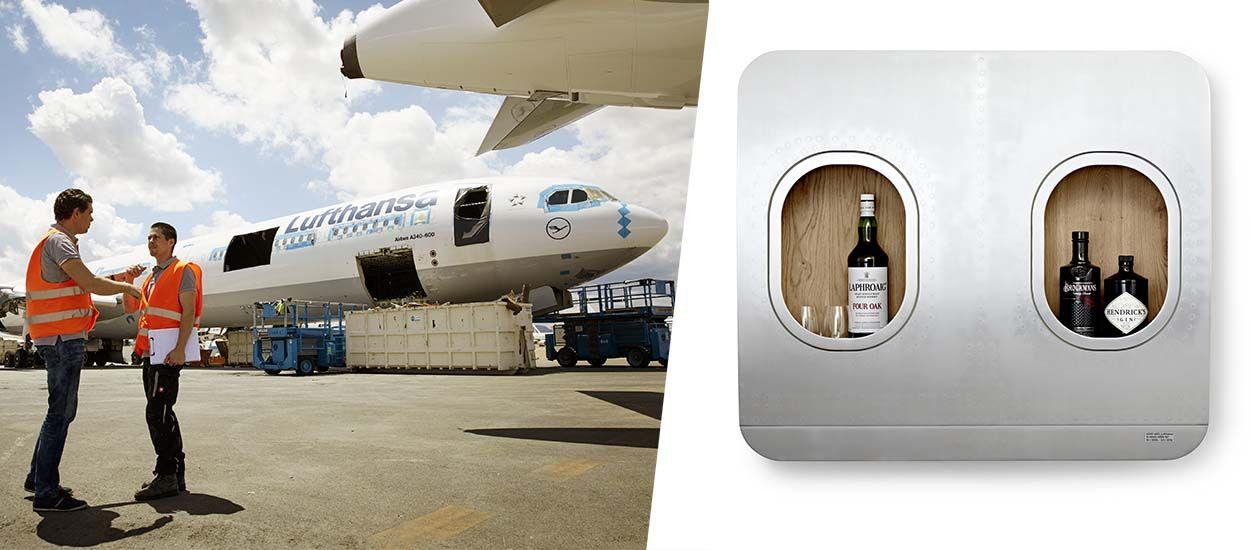 Une compagnie aérienne désosse un avion et le recycle en mobilier