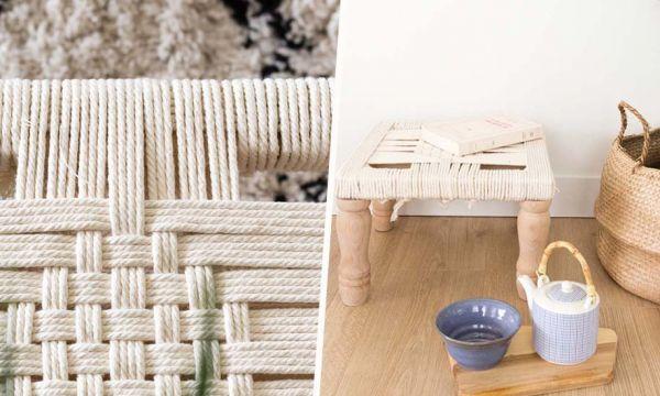 Tuto : Fabriquez un joli tabouret bohème en corde