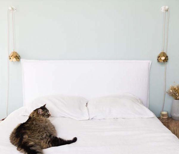Tuto : Fabriquez facilement une tête de lit cocooning en tissu
