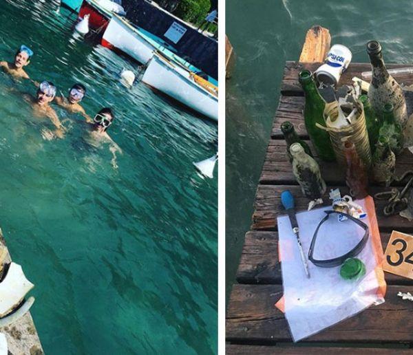 Cette famille nettoie le lac d'Annecy et affiche les photos des déchets sur Instagram