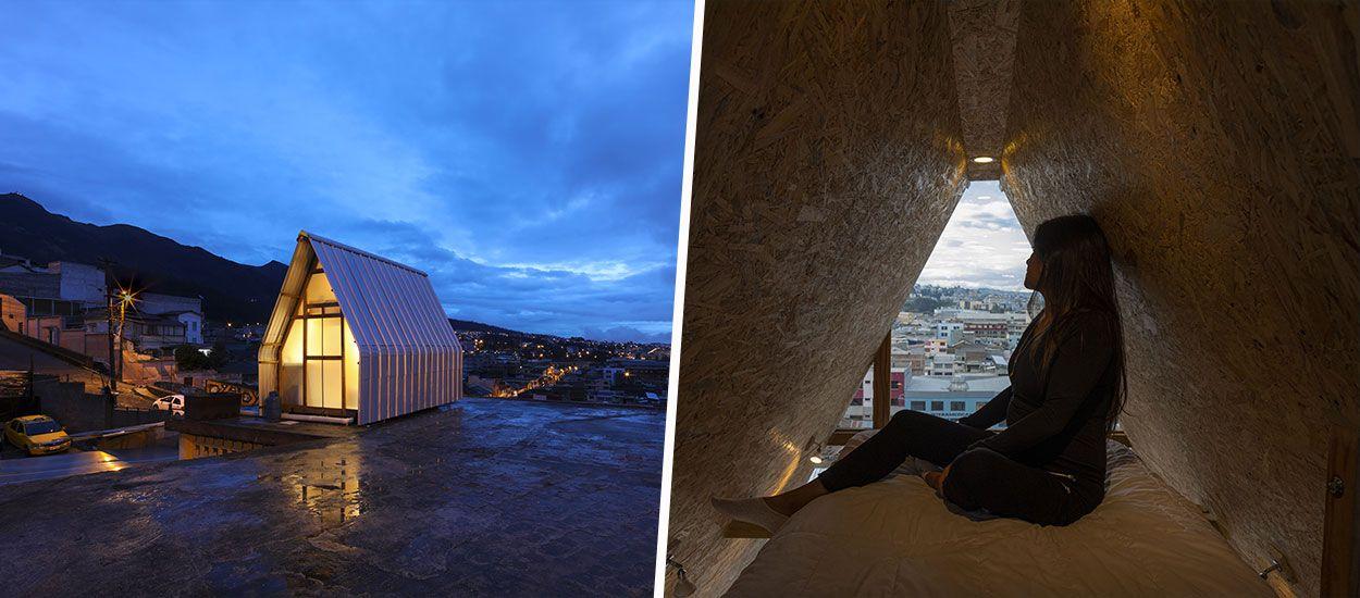 Une mini-maison installée sur les toits pour résoudre la crise du logement en ville