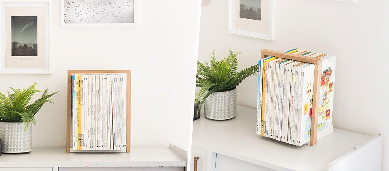 Tuto : Fabriquez un serre-livre en bois pour ranger vos BD