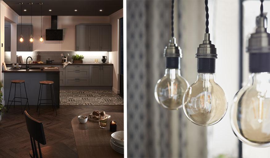 luminaire cuisine et ampoules décoratives Castorama