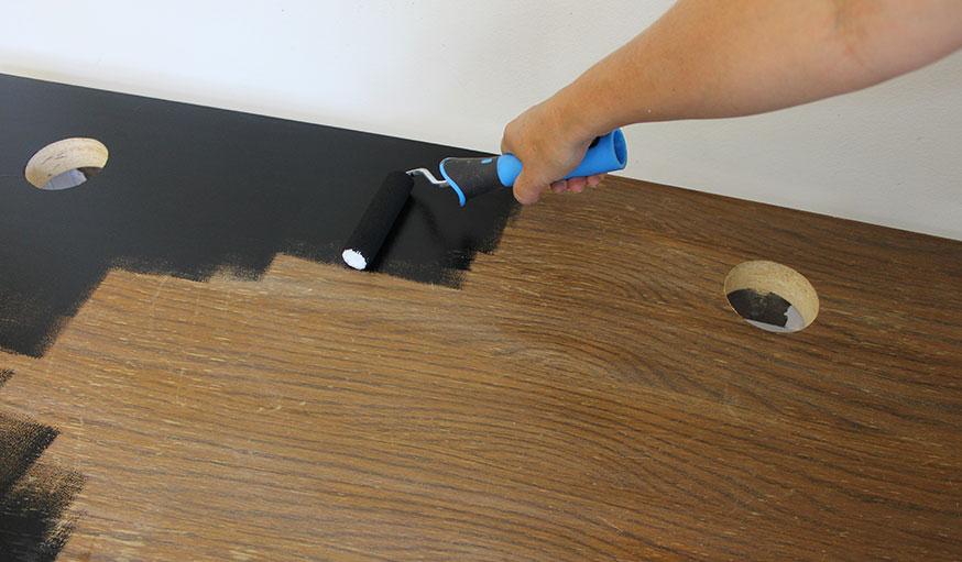 tuto transformer une table basse en table de jeu étape 7