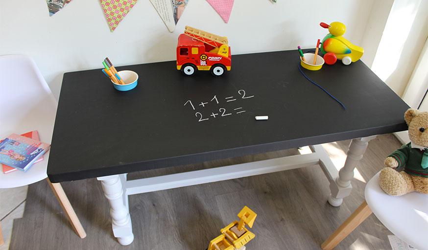 tuto transformer une table basse en table de jeu étape 9