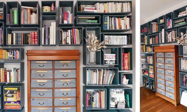 Elle fabrique elle-même la bibliothèque de ses rêves et partage le tuto !