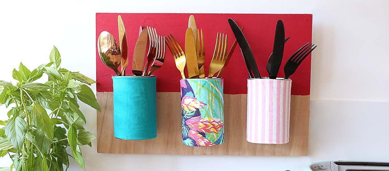 Tuto : Fabriquez un range-couverts déco avec des boîtes de conserve !