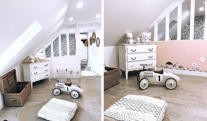 Chambre de bébé et salle de jeux maison Normandie